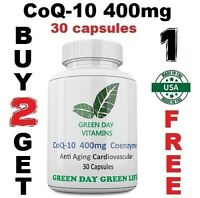 CoQ-10 400mg Coenzyme Promotes Heart & Cardiovascular Wellness Made USA
