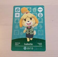 Isabelle #001 Animal Crossing Amiibo Card Official Series 1 Nintendo New Horizon