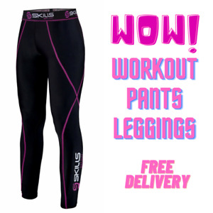 Women's Compression Base Layer Tights, Pants, Skins Fitness, Running, Gym, Yoga