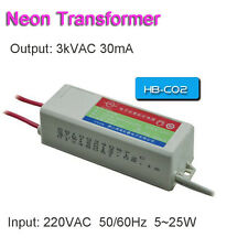 Neon Electronic Transformer 3KV30mA 25W Load 2M Neon Sign Power Supply Ballast