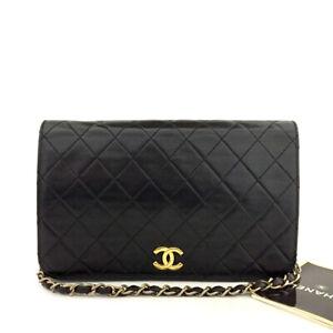 CHANEL Full Flap Quilted 23 CC Logo Push Lock Lambskin Chain Shoulder Bag/71230