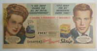 Sheaffer's Skrip Ink Ad: Maureen O'Hara Movie from 1946 Size: 7.5 x 15 inches