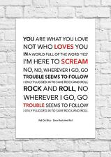 Fall Out Boy - Save Rock And Roll - Song Lyric Art Poster - A4 Size