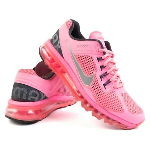 Nike Air Max Shoes Polarized Pink Reflective Silver Swoosh 555363-601 Women's 9