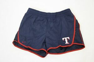 NEW Girls Kids Youth NIKE Texas RANGERS MLB Baseball Tempo Running Shorts Blue