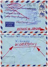 GERMANY to THAILAND RETURN to SENDER...STAMP EXHIBITION 1983 CACHET