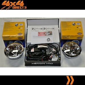 HELLA RALLYE FF4000 COMPACT CHROME DRIVING SPOT LIGHTS & 100W HID CONVERSION KIT