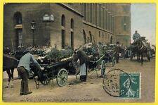 cpa 75 - PARIS en 1908 Quai de l'Horloge Le MARCHÉ aux FLEURS the Flower Market