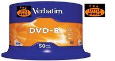 50 DVD -R Verbatim 100 % Vergini Vuoti 16 X 4.7 Gb 120 Min Offerta