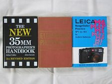 3 books Leica Rangefinder Practice New 35mm Photographer Elementary Photography.