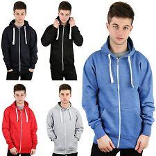 Mens Plain American Zip Up Hoodie Jacket Sweatshirt Hooded Zipper Top S - XXXXXL
