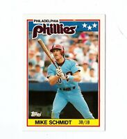 1988 Topps UK Minis #67 Mike Schmidt Philadelphia Phillies