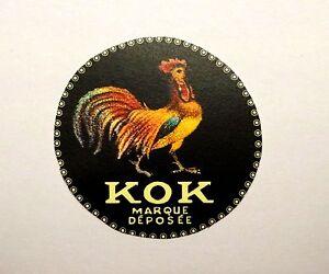 Pathé KOK Projecteur  (1912)     Decalcomanie    LOGO   Pathé Coq