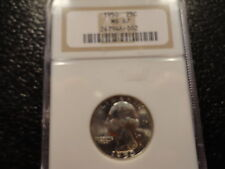 1950 SILVER WASHINGTON QUARTER CLEAN WITH GREAT STRIKE NGC MS 67