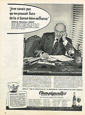 PUBLICITE ADVERTISING 064  1958  CHAMPIGNEULLES  bière de France MR LEROY