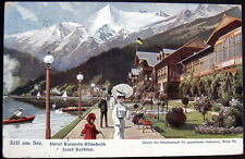 GERMANY~1913 ZELL AM SEE ~ HOTEL KAISERIN ELISABETH ~ VICTORIAN LADY PARASOL