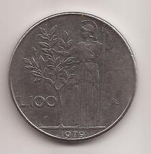 REPUBBLICA MONETA DA LIRE 100 DEL 1979 CIRCOLATA IN BUONE CONDIZIONI