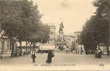 CARTE POSTALE AVIGNON PLACE DE L'HOTEL DE VILLE