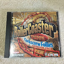 Roller Coaster Tycoon Expansion Pack Corkscrew Follies Game PC _Disc Good+++