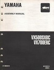 1999 YAMAHA SNOWMOBILE VX500SXBC,VX700ERC (see cover list) ASSEMBLY MANUAL (430)