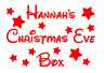 Christmas Eve Box Sticker Personalised Party Decal Gift Vinyl Stars Disney