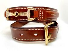 Horse Riding Belt, Equestrian Belt, Tan Leather Crystal Belt Girls and Ladies
