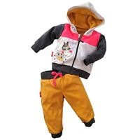 BNWT Baby Girls Tracksuit Set Hooded Jacket & Trousers Joggers 3-6/6-9 Months