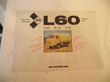 IFA Prospekt L60 Pritschenfahrzeug aus 1986 in deutscher und englischer Sprache