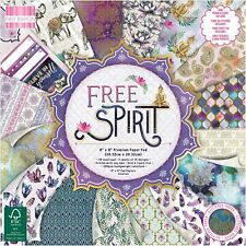 "8"" x 8"" 48 Sheet Full Pad FREE SPIRIT Card Making Scrapbook Craft Backing Paper"