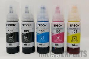 Epson Genuine 103 / 104 Ink Bottle Refill Set + Extra Black for Ecotank Printer