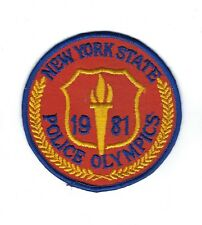 OLD New York NY State 1981 Police Olympics patch - NEW! *Cheesecloth Back*