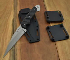 CRKT 2010N CRAWFORD/KASPER DRAGON TACTICAL FIGHTER FIXED BLADE KNIFE w SHEATH