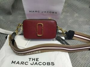 MARC JACOBS Snapshot Small Camera Bag  Brand 940 NEW CRANBERRY MULTI bag sales