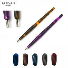 1Pc Nail Art Dotting Pen Cats Eyes Polish Painting Magnetic Magnet Manicure Tool