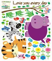 Wandaufkleber Wandtattoo Wandsticker Deko Tiere Eichhörnchen Eule Kinder CC6931