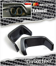 Carbon Rear Bumper Exhaust Heat Shields for Subaru Impreza WRX STi GRB GVB Wagon