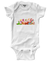 Infant Gerber Onesies Bodysuit Clothes Baby Gift Cute Snow White 7 Dwarfs Group