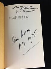 Hand Signed Ann Moray HC Book Dawn Falcon A Novel Of Ancient Egypt