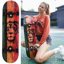 Skateboard Holz Board Kickboard Holzdeck Komplettboard Ahornholz Funboard 31zoll