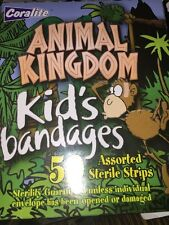 Animal Kingdom Kids Bandages 50 in box Different Sizes band aids lion tiger