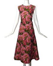 ESCADA-NWT Floral Brocade Midi Dress, Size-12