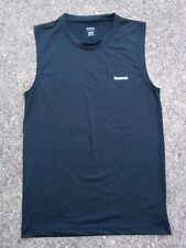 Reebok PlayDry Compression Athletic Shirt ~ Men's Large L ~ Black Sleeveless RBK