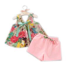 baby girl's vest plus short pants summer Korea style dresses plus gift