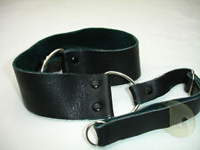 HERVIA LEATHER CAMERA NECK STRAP with lug rings, Made in USA, Vintage #3721
