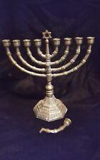 Vtg Menorah w/Removeable Shamas Brass European Style - Similar to Wikipedia #12