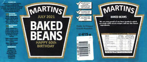 PERSONALISED HEINZ BAKED BEANS LABEL - 10 YEAR WEDDING ANNIVERSARY TIN YEARS