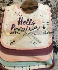 Nwt Baby Girl 5 Pack Of Bibs Hello Beautiful