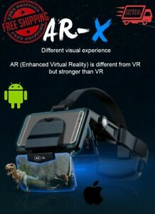 AR-X VR Glasses Helmet Virtual Reality with 4.7 -6.0 inch screen IOS & Android