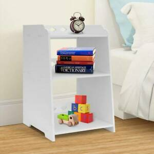 White Bedside Table Cabinet Small Side End Table Nightstand Storage Organizer UK