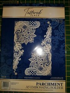 Tattered Lace Parchment A5 Embossing Folder
